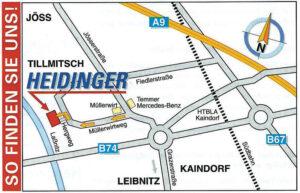 Anfahrt Firma Heidinger